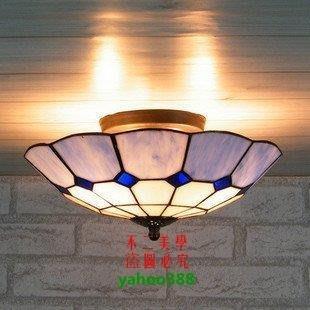 【美學】蒂帝凡尼彩色玻璃地中海現代廚房門廳吸頂燈(小號)MX_02