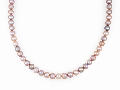 【久大御典品】天然珍珠項鍊 9.5mm 奢華紫珍珠*47粒 淡水珠 純天然無處理 超美【商品編號:YC08329-4】