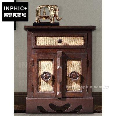 INPHIC-床頭櫃泰式小櫃子傢俱儲藏儲物木櫃東南亞竹編_FMG3