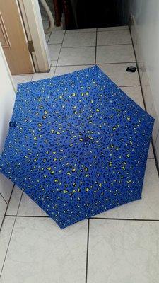 【bossini】籃色豹紋雨傘