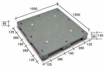 [全新]南亞密面塑膠棧板100x100