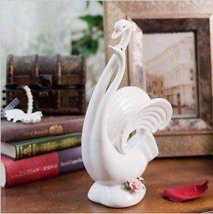景德鎮/ 陶瓷情侶白天鵝/居家裝飾擺件 陶瓷工藝擺件擺設 模型