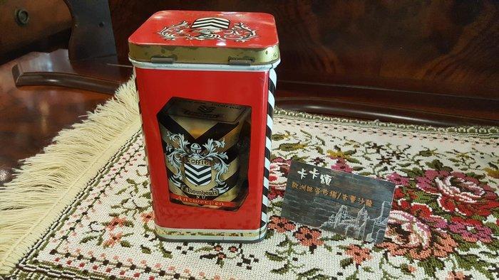 【卡卡頌 歐洲跳蚤市場/歐洲古董】歐洲老件_ 茶罐 咖啡罐 餅乾 糖果鐵盒 小物收納盒 老鐵盒 m0441✬