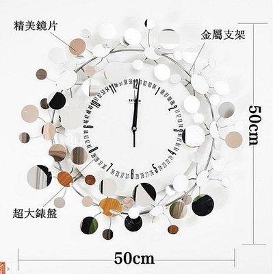 新款settler卓爾裝飾掛鐘鐵藝創意造型鐘表滿天星藝術掛鐘原製1005