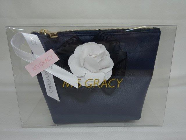 ☆注目の日本百貨公司品牌MS Gracy  新款香奈兒花朵手拿/化妝包☆