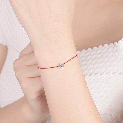 ☆Chia sweet shop☆現貨黃大仙紅繩單鑽幸運繩紅線開運手鏈手鍊