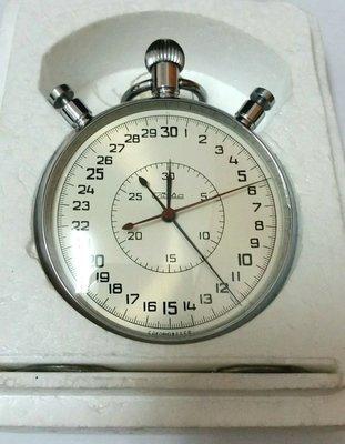 旭-----庫存新品 蘇聯 SLAVA 雙秒針 雙追針 高階20石 機械碼表 超大錶徑65mm