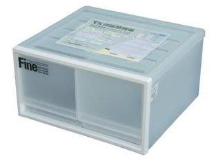 315百貨~日系風格~聯府KEYWAY  CK72 CK-72 雙抽屜整理箱(白)*1入/收納箱/整理箱/置物箱/單層櫃