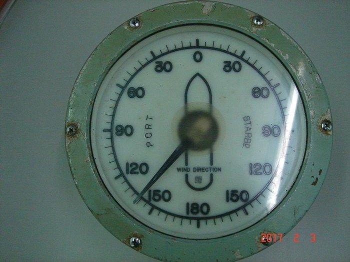 拆船 貨《風向計 WIND DIRECTION 》1975年製 直徑約25CM 高14CM 【CS超聖文化讚】