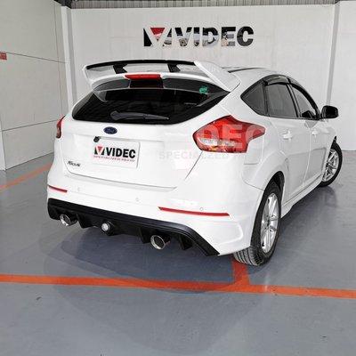 威德汽車精品 HID 福特 FORD 16 NEW FOCUS MK3.5 RS 空力套件 後保桿 素材 PP