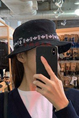 現貨 ADIDAS ORIGINALS BUCKET HAT 織帶 漁夫帽 限量 全新 男 女 三葉草 愛迪達