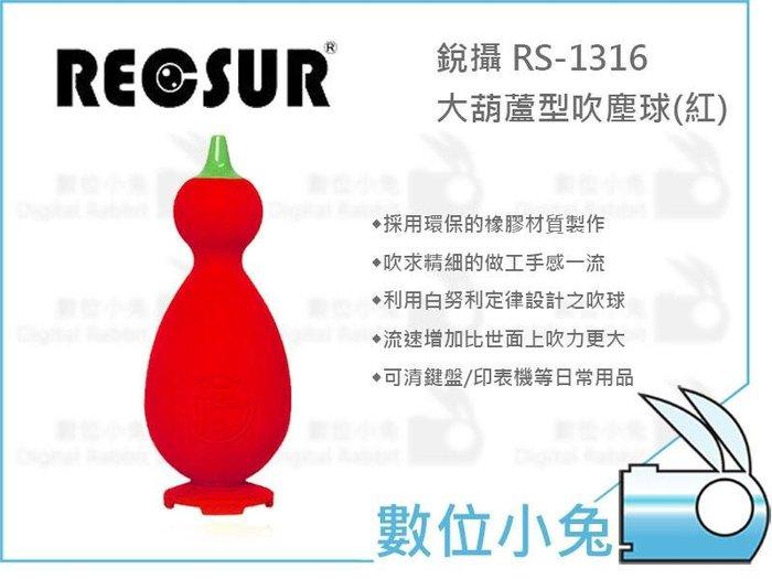 數位小兔【RECSUR 大葫蘆型吹塵球】銳攝 公司貨 吹力強 雙氣囊 福字吹球 吹球 除塵 吹氣球 相機 鏡頭 清潔保養