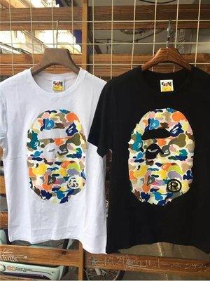 2016 夏季新款 BAPE CAMO 糖果迷彩猿人頭 短TEE