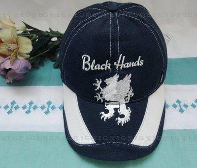 美國 Mek Denim Black Hands 呢絨 棒球帽 麒麟刺繡 純棉雙層 超厚 深藍色