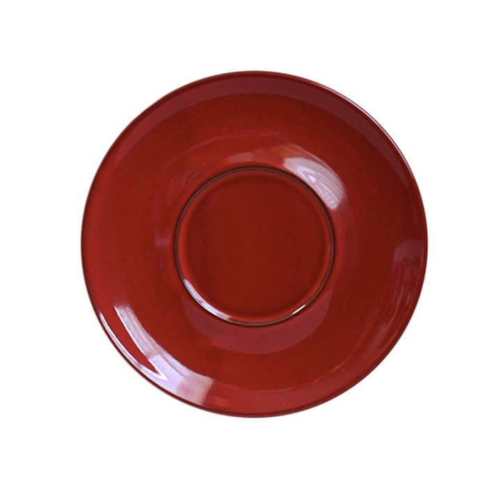 日本Origami barrel aroma 摺紙咖啡馬克杯盤復古系列-雪松紅