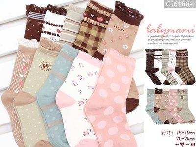貝比幸福小舖【56188-I】多款可愛造型女寶寶短襪~十雙一組*