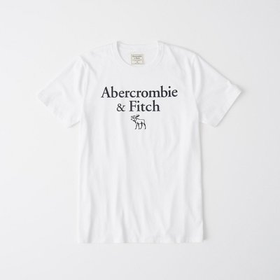 T【A&F男生館】☆【Abercrombie&Fitch麋鹿LOGO印圖短袖T恤】☆【AF008W2】(S)原價799 彰化縣