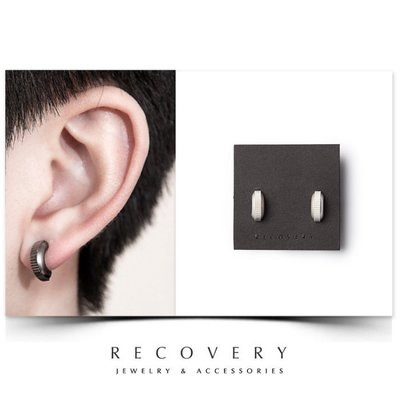 SCIENCE RECOVERY Serrated Earring 鋸齒耳環(黑銀/霧銀)