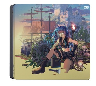 PS4 2017型 Slim 主機專用 小藍 主機貼 機身貼 保護貼 生存版【台中恐龍電玩】