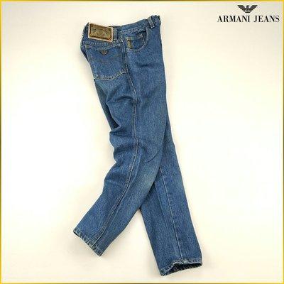 日本二手衣✈️ARMANI JEANS 藍色 無彈性 小管 單寧 牛仔褲 日本牛仔 女裝 *27腰* A6112A