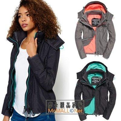 歐美衣櫃 極度乾燥女裝連帽沖風衣 三層拉鏈加絨秋冬保暖防風外套 短褸 風褸 休閒外套