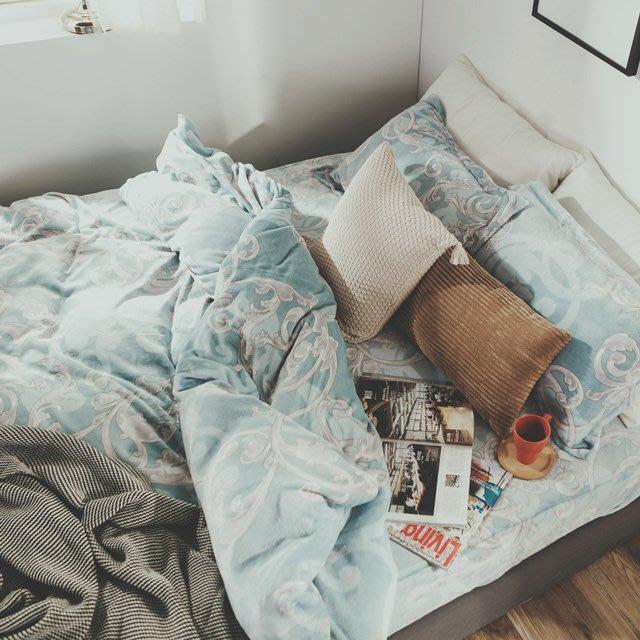 法蘭絨 5尺/標準雙人抗靜電鋪棉床包被套組【芳菲】絲薇諾