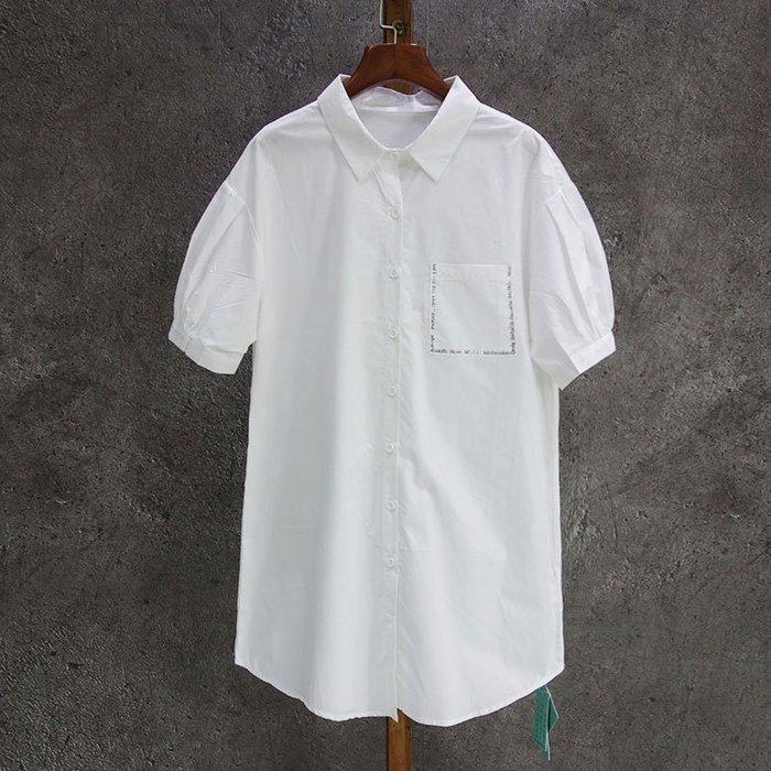 A144 專櫃翻領純棉襯衫休閒顯瘦打底衫