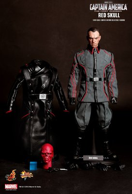 中古Hot Toys Captain America : The First Avenger -Red Skull (皮褸開始熔)