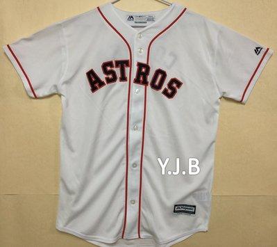 MLB 美國職棒大聯盟 休士頓太空人隊 白色 棒球衣 青年版 Majestic Houston Astros