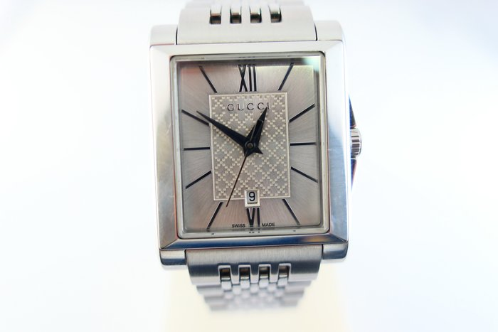 [吉宏精品交流中心]GUCCI 古馳 YA138501 長方形 不鏽鋼 石英 女錶