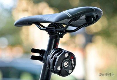自行車鎖防盜鏈條漢堡鎖山地車單車配件電動車固定折疊鎖腳踏車 鎖柱