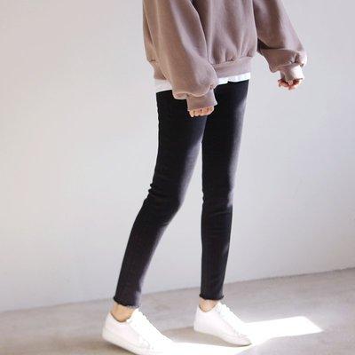 直接優惠價Girlmonster正韓 隨興感彈性 牛仔褲 (水洗黑色)【A0146】
