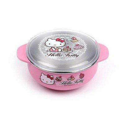 ^燕子部屋 ^  【Hello Kitty 】可愛不鏽鋼雙耳小碗+蓋