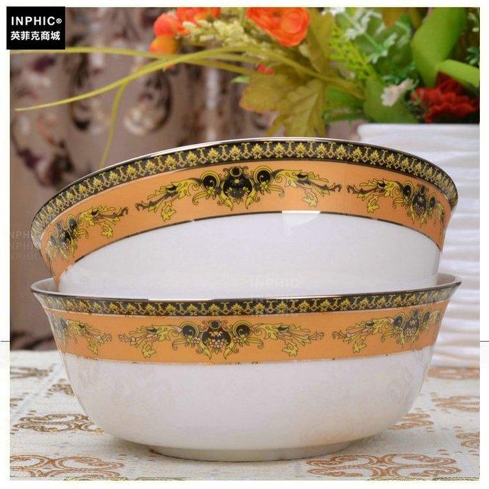 INPHIC-骨瓷 餐具單品 麵碗金色紀念_S01861C