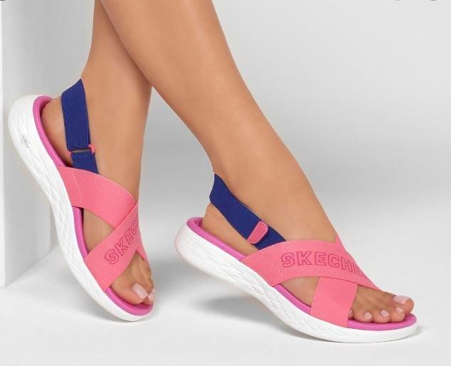 Skechers 2020新款140023CRMT On the GO 600-Wild Heart多功能涼鞋