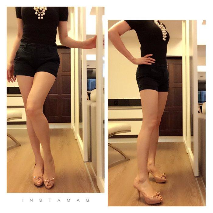*Beauty*日本國民品牌UNIQLO藍色棉料短褲 12-13號