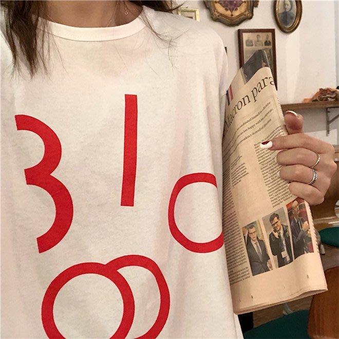 FINDSENSE G6 韓國時尚潮流 簡約百搭休閒顯瘦短袖TEE圓領T恤短袖T恤女裝上衣