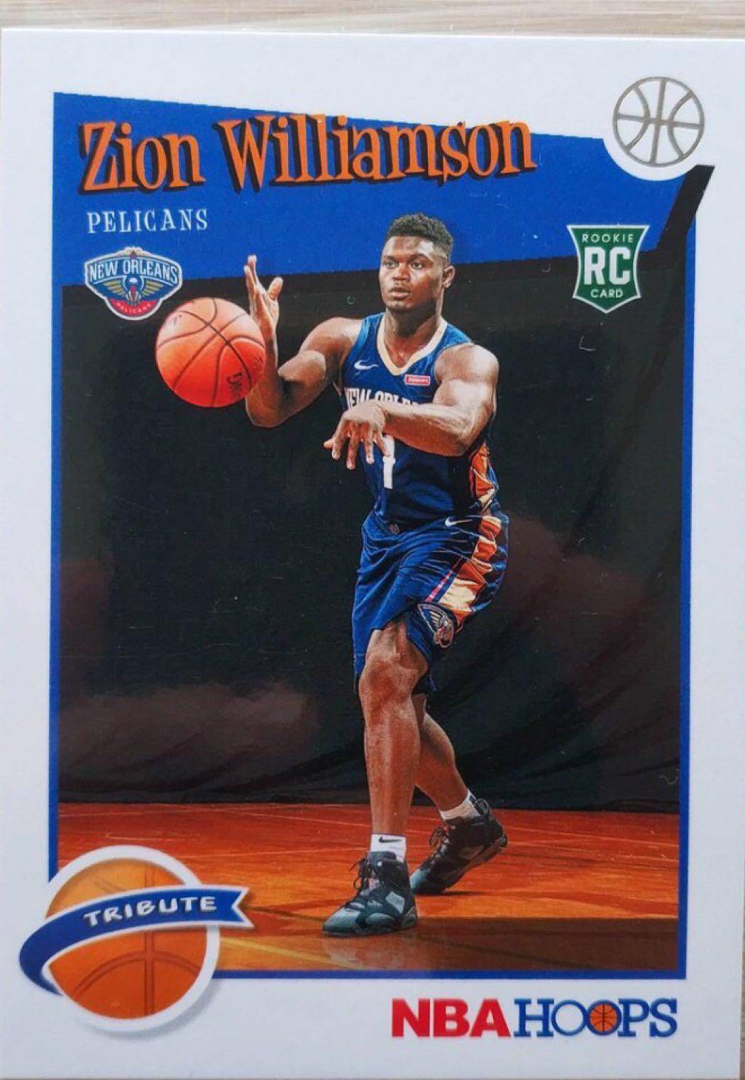 NBA 球員卡 Zion Williamson 2019-20 Hoops RC新人卡Tribute 2020選秀狀元