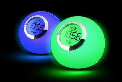 歐普照明LED護眼床頭燈檯燈臥室鬧鐘小夜燈七彩觸摸無極調光靈斕 新台幣:1.120元