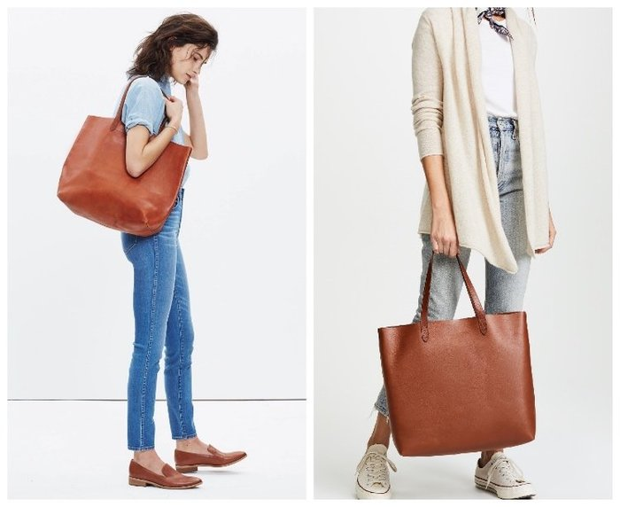 【BJ.GO】美國 madewell The Transport Tote 真皮手提袋 肩背包