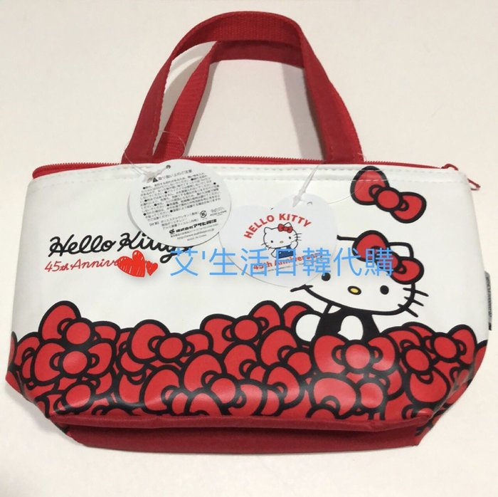 代購現貨  日本三麗鷗 kitty保溫保冷午餐袋 野餐袋
