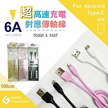 THE G 台灣製造 高速水管線 Micro USB 充電/傳輸線 6A 快速充電 快充 HTC ASUS 三星