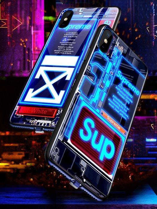 蘋果8plus手機殼iPhone智能聲控閃光來電閃發光潮牌6s男生8個性創意7plus潮男士防摔全包6高檔限量版女款新款