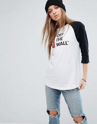 代購 Vans Off The Wall Logo Oversized Raglan T-Shirt