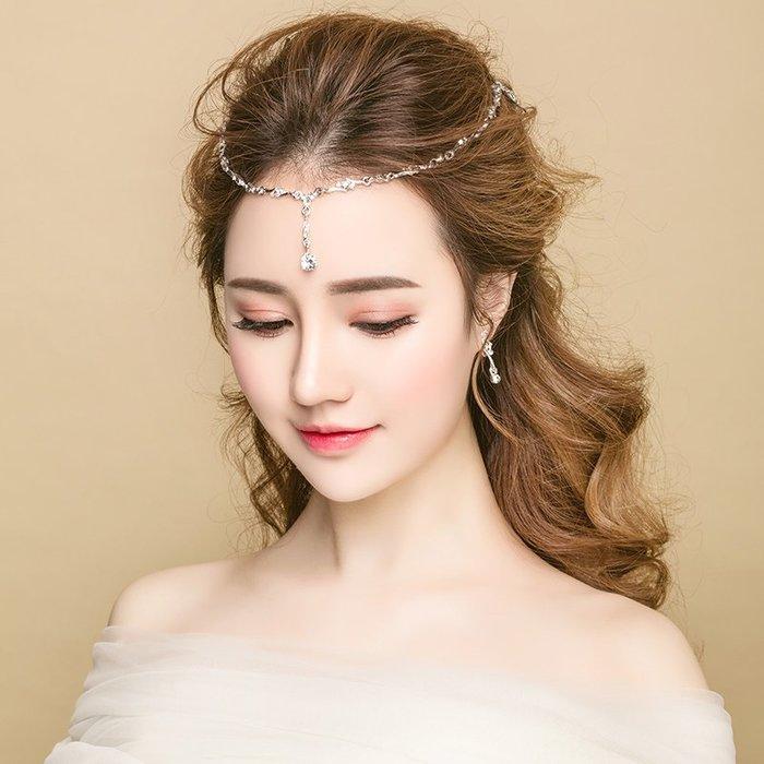 解憂zakka~ 新娘頭飾結婚禮額飾2019新款簡潔盤發婚紗禮服敬酒服配飾#頭飾#髮飾
