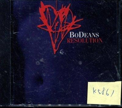 *真音樂* BO DEANS / RESOLUTION 二手 K5861(封面底破.CD有缺口不影響讀取)  (清倉.下標賣)