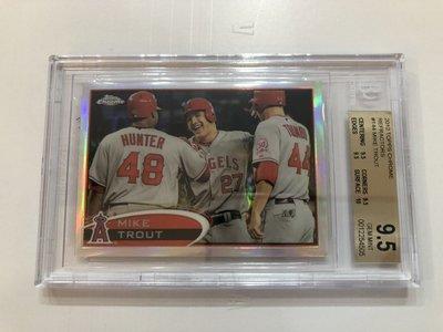 2012 MLB Topps Chrome Mike Trout Silver 銀亮卡 BGS鑑定9.5級