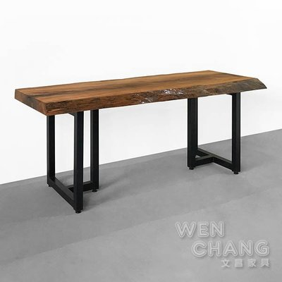 訂製品 鐵杉原木桌 餐桌 長桌 CUA-016 *文昌家具*