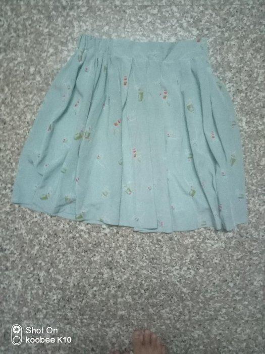susu高單價日本品牌藍綠色印花裙
