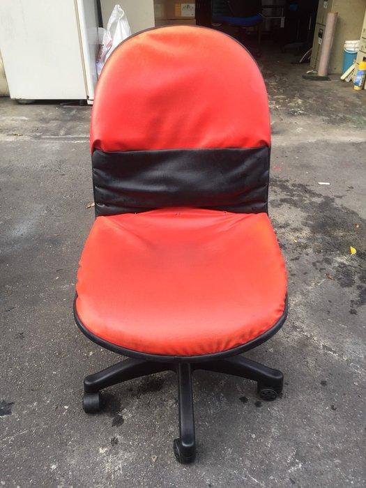非凡二手家具 紅皮 辦公椅(無升降)*主管椅*電腦椅*會計椅*洽談椅*接待椅